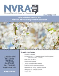NVRA March 2017 Cover