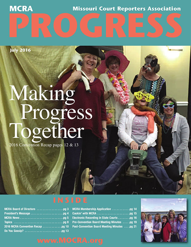 Progress Issue July 2016 Making Progress Together