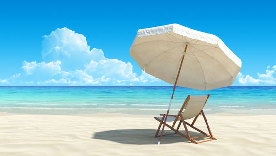 Beach Chair Umbrella Ocean
