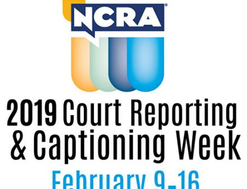 2019 Court Reporting and Captioning Week